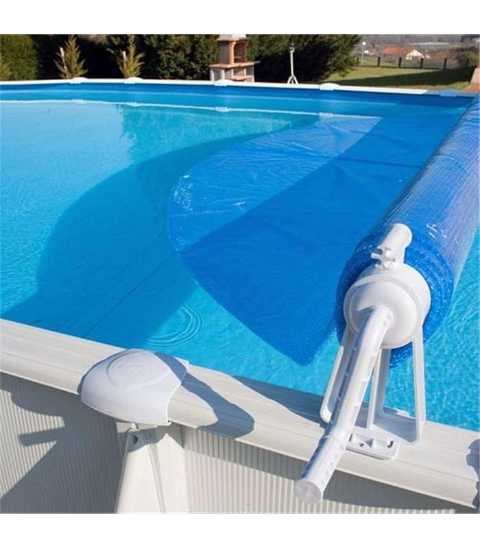 Enrollador de cubierta piscina elevada gre 40135 for Cubiertas de lona para piscinas