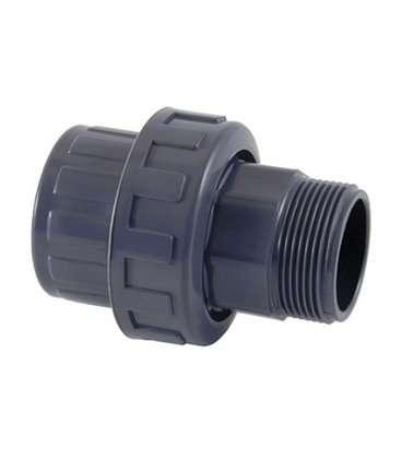 """Enlace tres piezas mixto PVC Diámetro 50 a 1-1/2"""" Cepex. 02357"""