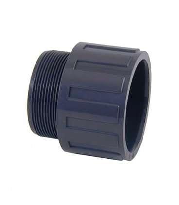 """Terminal rosca macho PVC Diámetro 50 a 1-1/2"""" Cepex. 02106"""