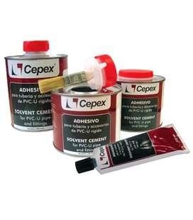 Adhesivo PVC 500cc con pincel Cepex. 09043