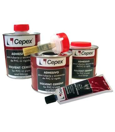 Adhesivo PVC 1000cc con pincel Cepex. 09044