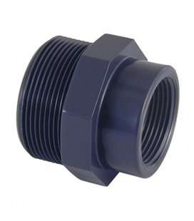 "Reducción Roscada PVC macho x hembra D. 3/8"" x ½"". 02270"