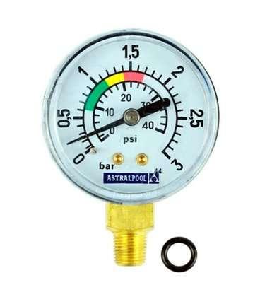 """Manómetro 1/8"""" 3kg/cm filtro Millenium Astralpool. 4404220102"""