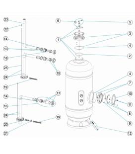 Junta tórica raccord salida EPDM 65 Astralpool. 4404301901
