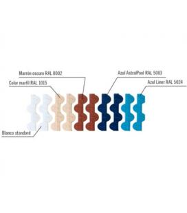 Rejilla transversal rebosadero curvas 245mm MARRÓN Astralpool. 34191_CL109