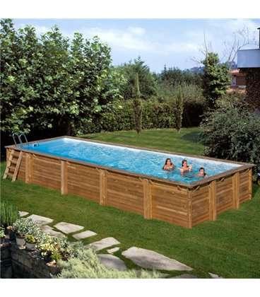 Piscinas de madera elevadas affordable piscina weva octo for Decorar piscina elevada