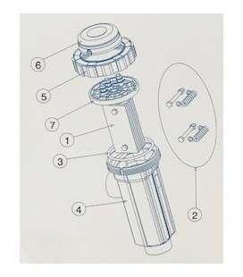 Soporte electrodo IDEGIS. R-015-05