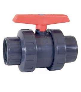 "Válvula PVC de bola PN-10 1 1/2"" Cepex. 02504"