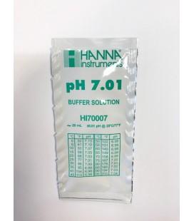 Solución de calibración en sobre Hanna pH 7.01 20ml. HI70007