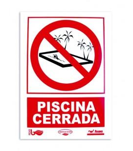 Cartel seguridad PISCINA CERRADA. 101169