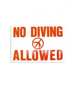 Cartel seguridad inglés NO DIVING ALLOWED. 100698