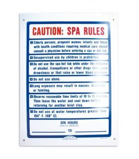 Cartel seguridad inglés SPA RULES. 101170