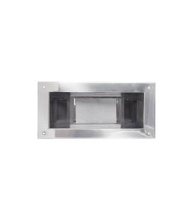 Embellecedor + compuerta inox skimmer 00251 AQA. AQA-BF-SKR