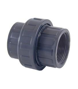 "Enlace 3 piezas PVC-U rosca hembra BSP 2½"" CEPEX. 07713"