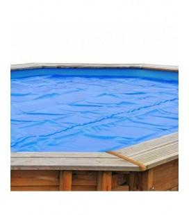 Cubierta isotérmica piscina madera ovalada 608 x 408 Gre. CV790203
