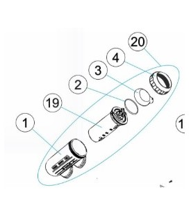 Célula Electrodo Salt Expert de 22 g/h + VASO de Certikin. CLSE024V