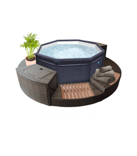 Spa Hinchable Octopus + Mobiliario Poolstar 6 personas. SP-OCT165/MOB2