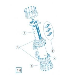 Repuesto electrodo DOM-70 IDEGIS. R-070