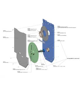 Cojinete eje cubierta automática Rousillon Ceret Astralpool. 070225