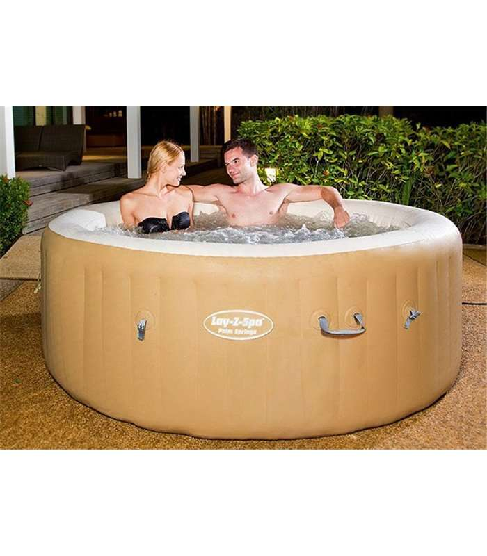 Spa hinchable lay z spa palm springs bestway 54129 for Piscine gonfiabili on line