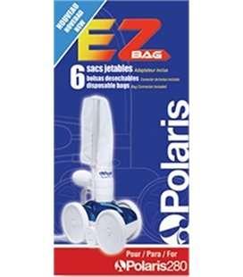 Pack de 6 bolsas desechables EZ BAG para limpiafondos Polaris 280. W7230114