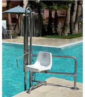 Ascensor acuático hidráulico 150kg para piscina. ASCAC002