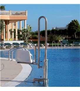 Ascensor acuático hidráulico portátil 120kg para piscina. ASCAC003