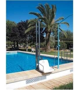 Ascensor acuático hidráulico piscina vorada elevada. ASCAC005