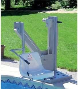 Ascensor acuático con batería 120kg para piscina. ASCAC008