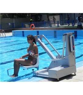 Ascensor acuático con batería 150kg para piscina. ASCAC011