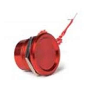 Pulsador piezoeléctrico rojo aluminio BSV. SMA2AAW1R