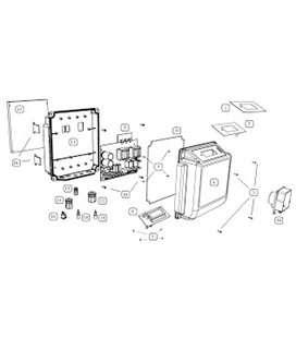 Cuadro eléctrico para focos 100W BSV. PC740-100