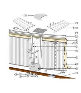 Perfil inferior de sujeción chapa para piscina D.550 Gre. PC5501420WP