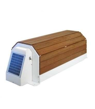 Cubierta automática elevada solar con banco Narbonne Astralpool