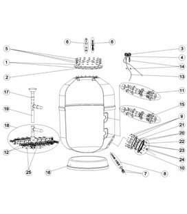 Tornillería tapa filtro Europa Astralpool. 4404260211
