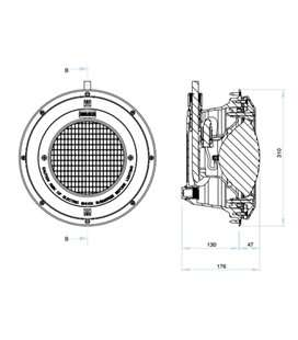 Proyector sin lámpara piscina liner Astralpool. 23672