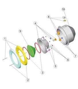 Prensaestopas foco proyector M-25 Astralpool. 4403010609