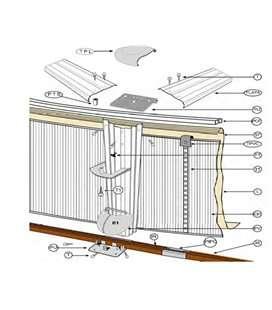 Perfil inferior de sujeción chapa para piscina D.460 Gre. PC4601420WP