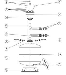 Junta tapa filtro inoxidable Astralpool. 4404060301