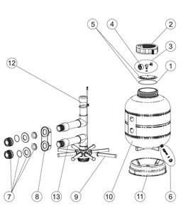 Cuerpo filtro D.480 Millenium Astralpool. 28297R0100L