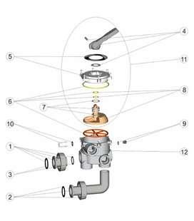 """Juntas enlace 1 1/2"""" válvula selectora Astralpool. 4404120205"""