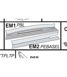 Pieza estampación zona recta EM2 Gre. PEBASEL803
