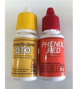 Reactivos líquidos de Phenol y Oto Astralpool. 508513R