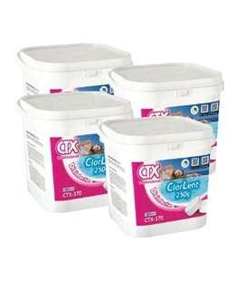 Caja de 4 ud CTX 370. Cloro en pastillas de 250gr. 5kg. 509460