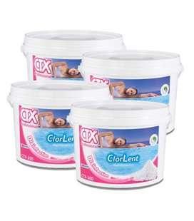 Caja 4 ud CTX 300 GR. Cloro granulado lento. 5kg. 509471