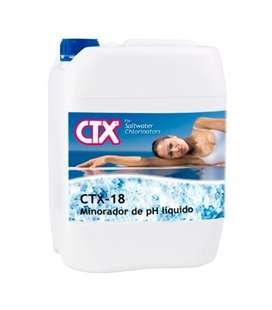 CTX 18. Minorador pH líquido piscinas electrólisis salina 10 lt. 40969