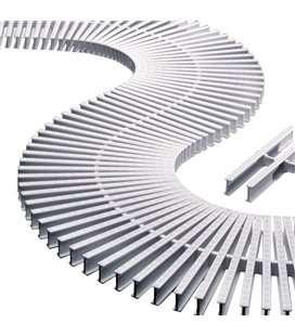 Rejilla transversal blanco para curvas 195x22 Astralpool. 11107