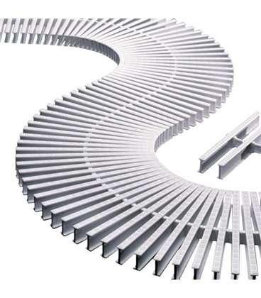 Rejilla transversal blanco para curvas reversible 195mm Astralpool. 00220