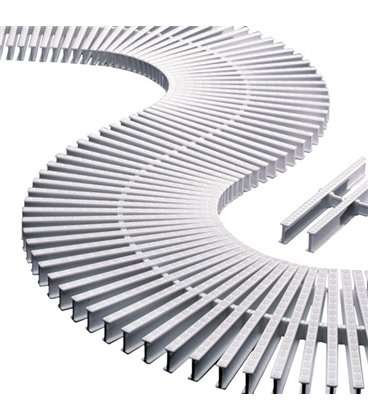 Rejilla transversal blanco para curvas reversible 335mm Astralpool. 00223